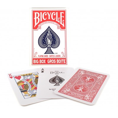 Bicycle Big Box Playing Cards Rojo