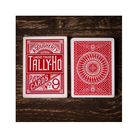 Tally-ho Circle Back Playing Cards Rojo
