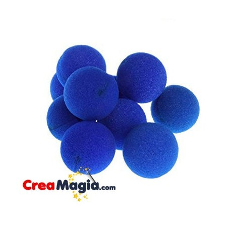 Bolas de esponja azul
