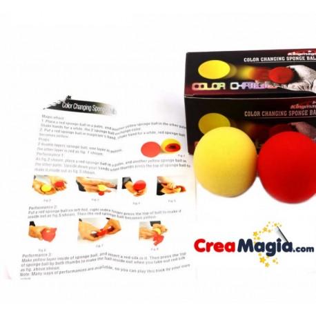Bolas esponja cambio de Color