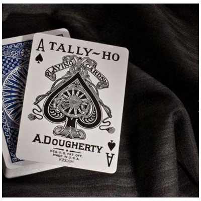 Tally-ho circle back playing cards azul