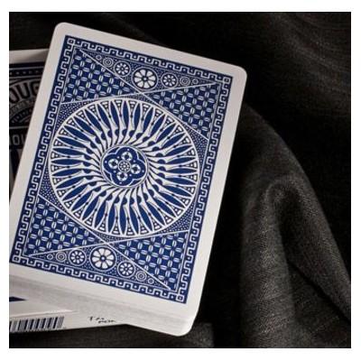 Tally-ho circle back playing cards azul