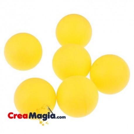 Bolas de esponja amarillo