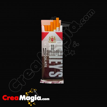 Transformación cajetilla cigarrillos-chocolatina