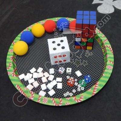 Cubo explosivo + esponjas + accesorios adicionales